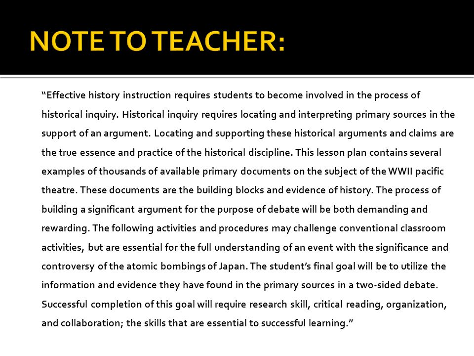 NOTE TO TEACHER: