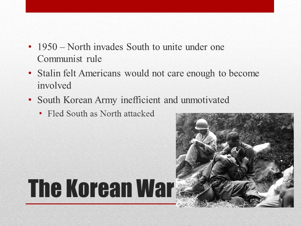1950 – North invades South to unite under one Communist rule