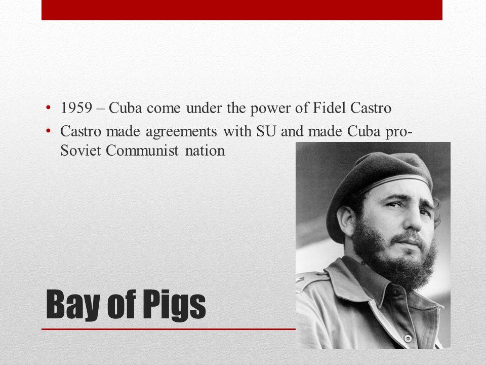 Bay of Pigs 1959 – Cuba come under the power of Fidel Castro