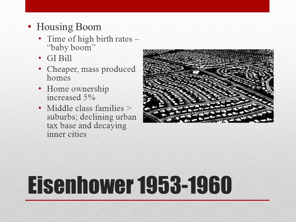 Eisenhower 1953-1960 Housing Boom