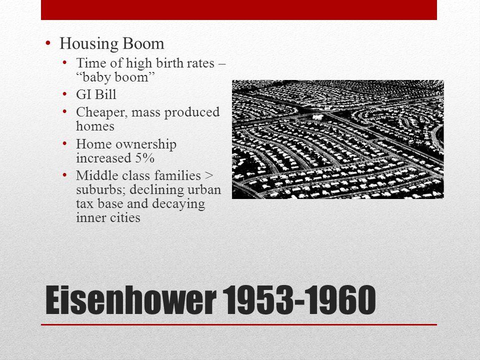 Eisenhower 1953-1960 Housing Boom