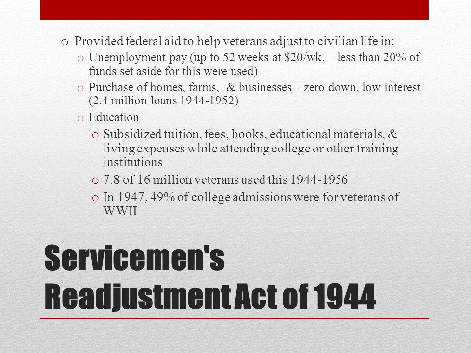 Servicemen s Readjustment Act of 1944