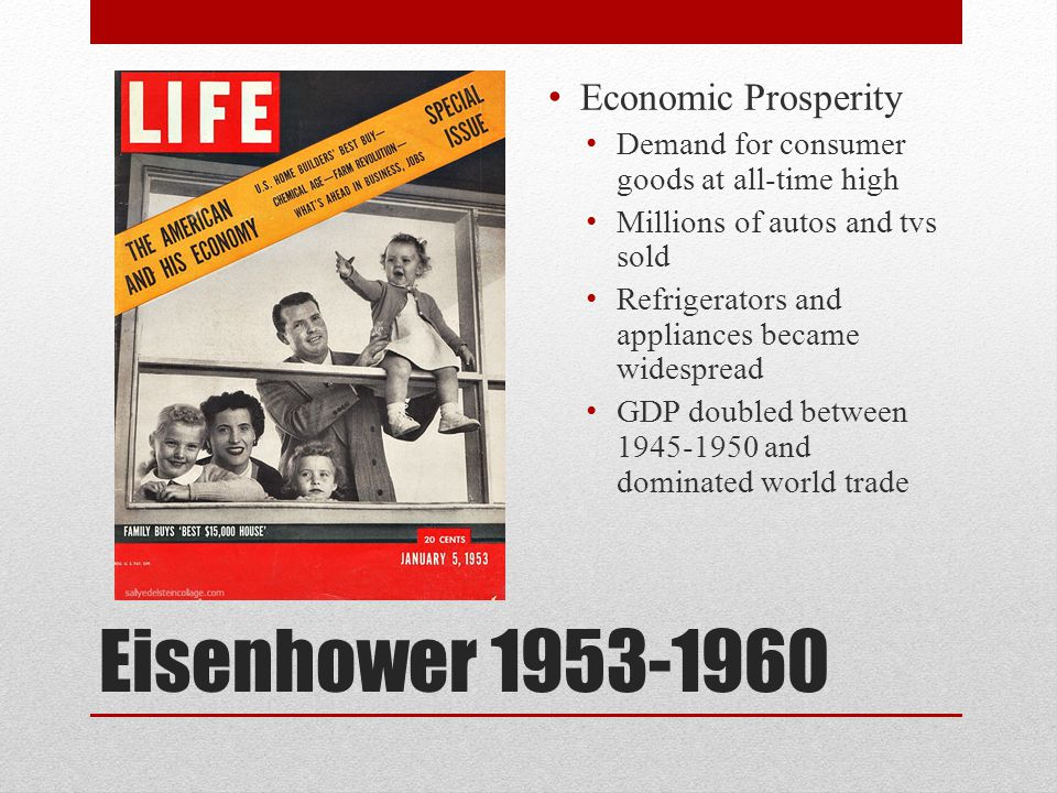 Eisenhower 1953-1960 Economic Prosperity