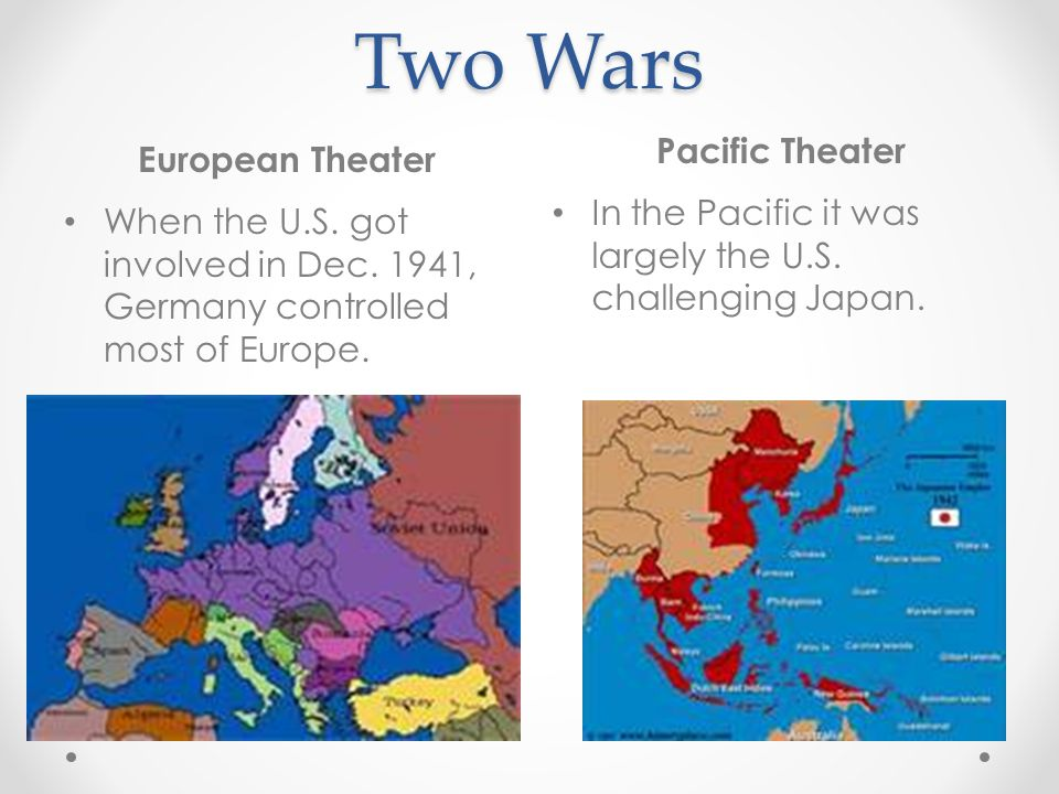 Two Wars Pacific Theater European Theater