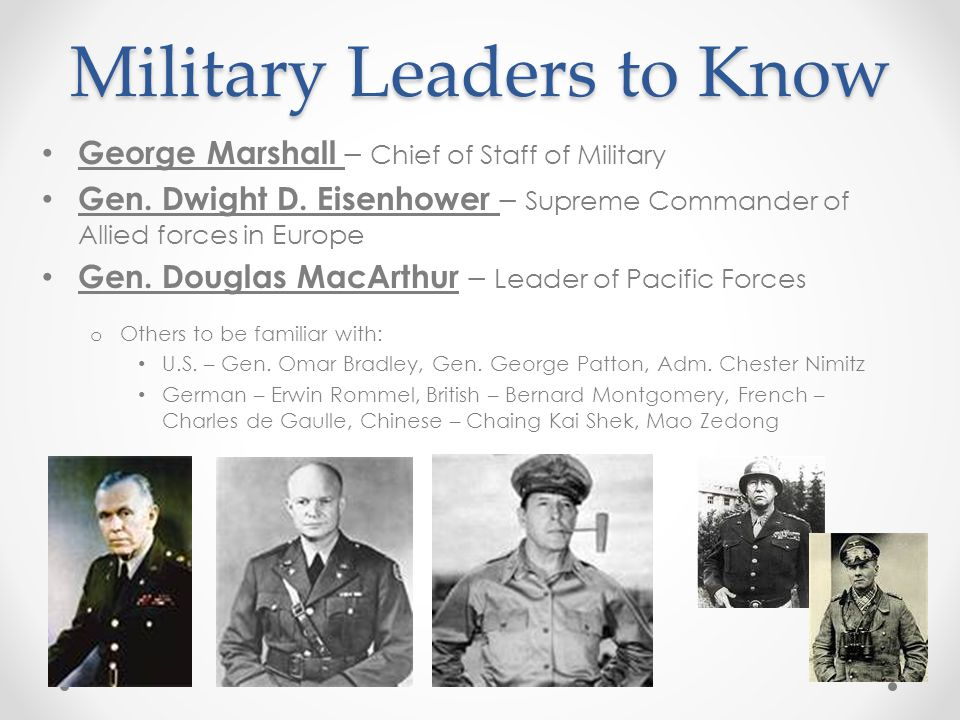 Military Leaders to Know