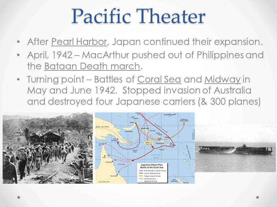 Pacific Theater After Pearl Harbor, Japan continued their expansion.