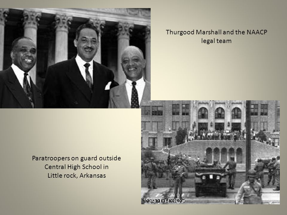 Thurgood Marshall and the NAACP legal team