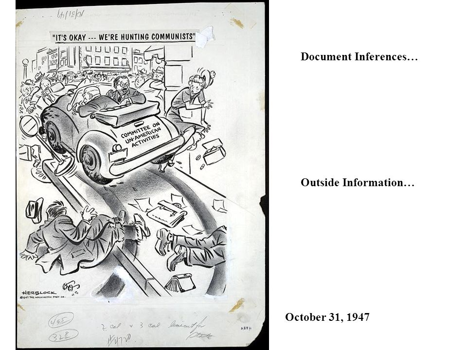 Document Inferences… Outside Information… October 31, 1947