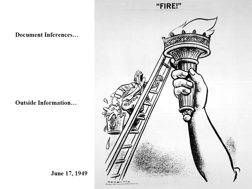 Document Inferences… Outside Information… June 17, 1949