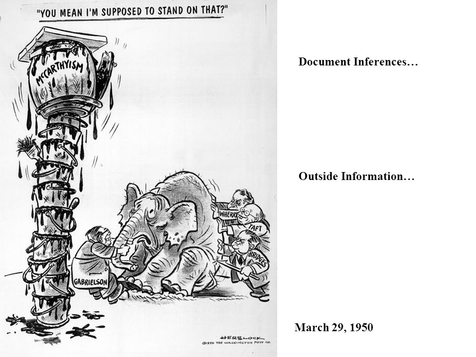 Document Inferences… Outside Information… March 29, 1950