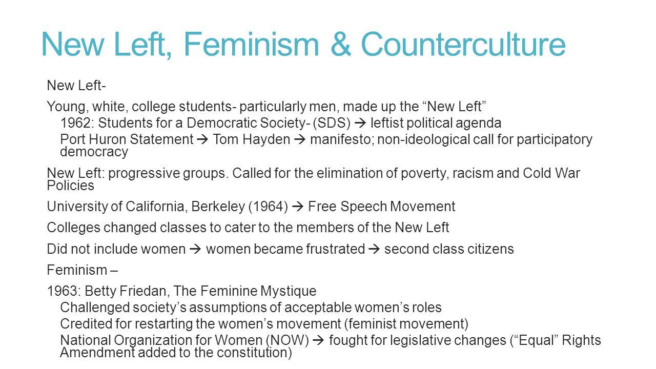 New Left, Feminism & Counterculture
