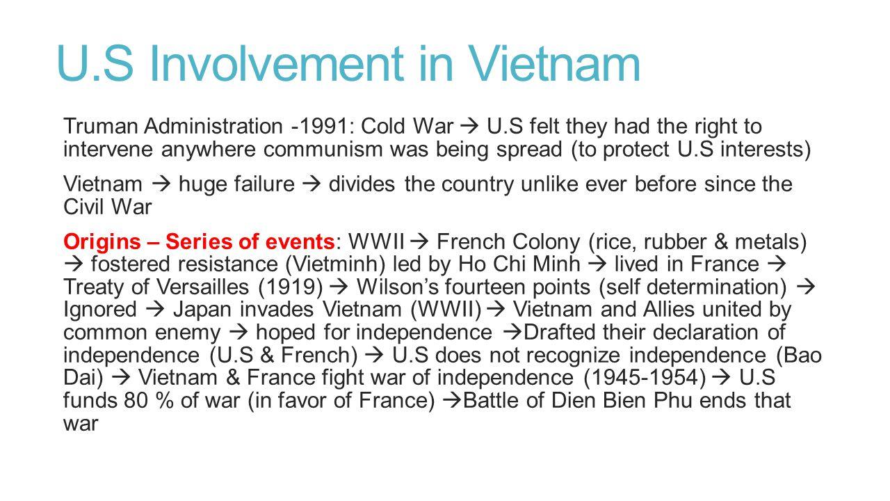 U.S Involvement in Vietnam