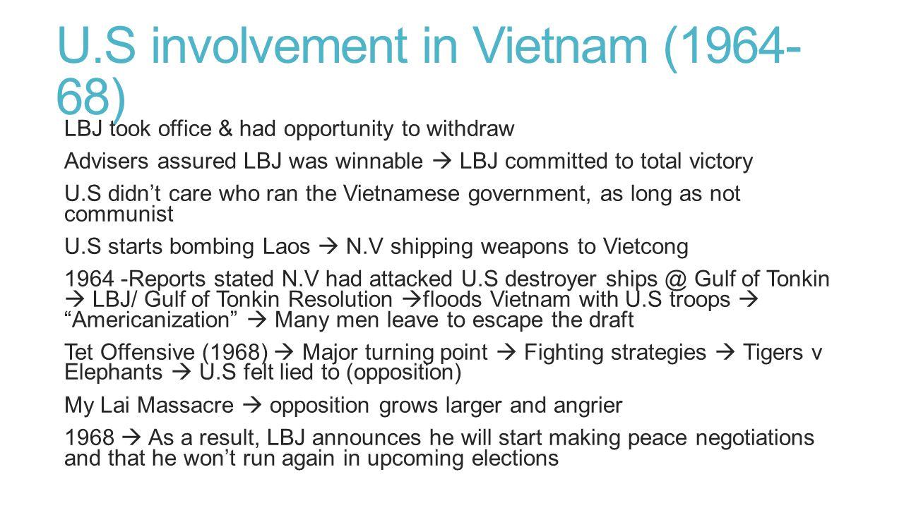 U.S involvement in Vietnam (1964-68)