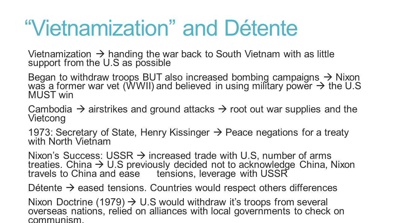Vietnamization and Détente