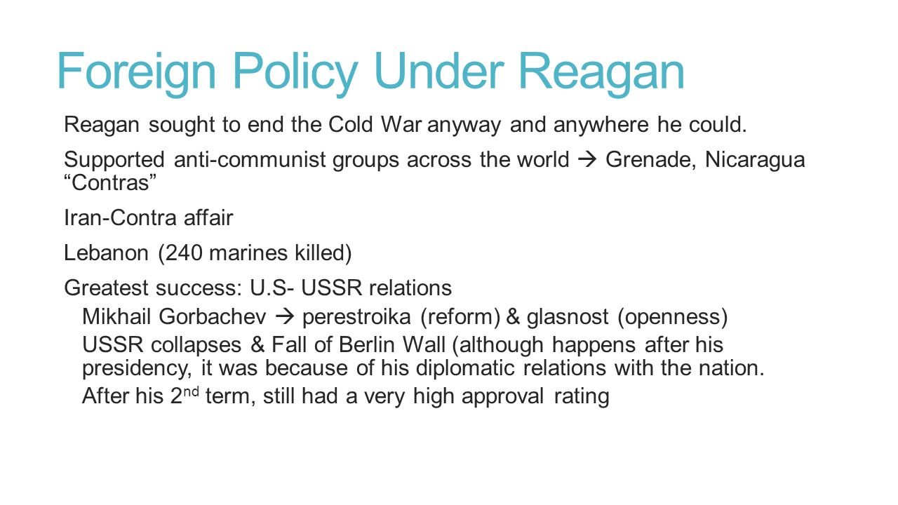 Foreign Policy Under Reagan