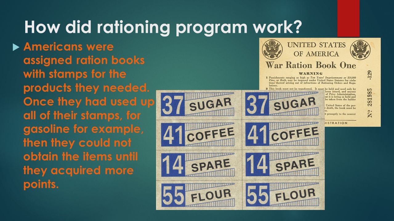 How did rationing program work