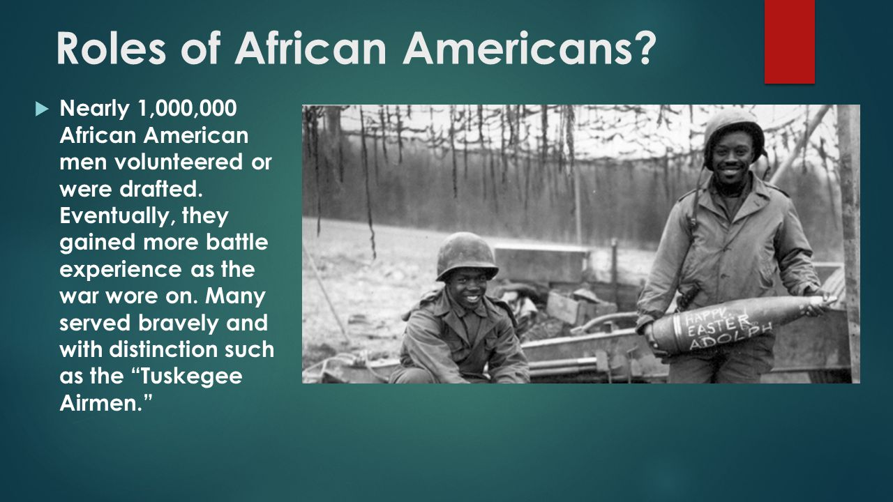 Roles of African Americans