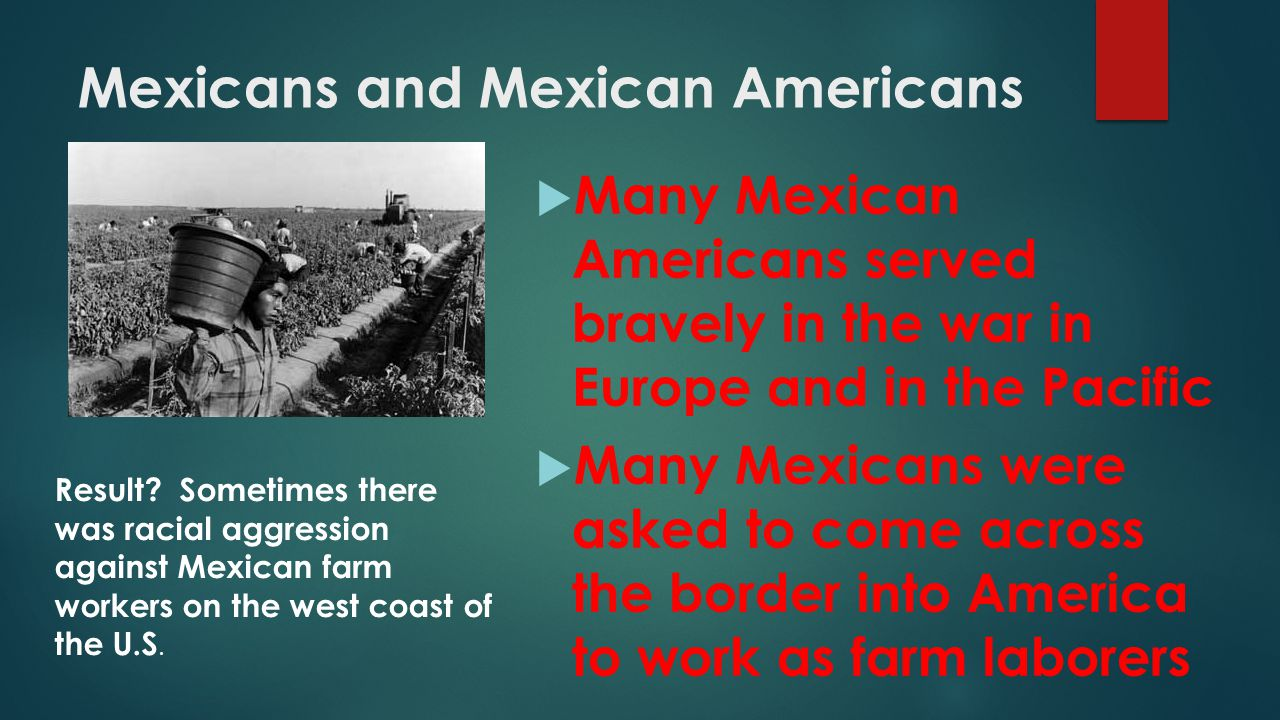 Mexicans and Mexican Americans