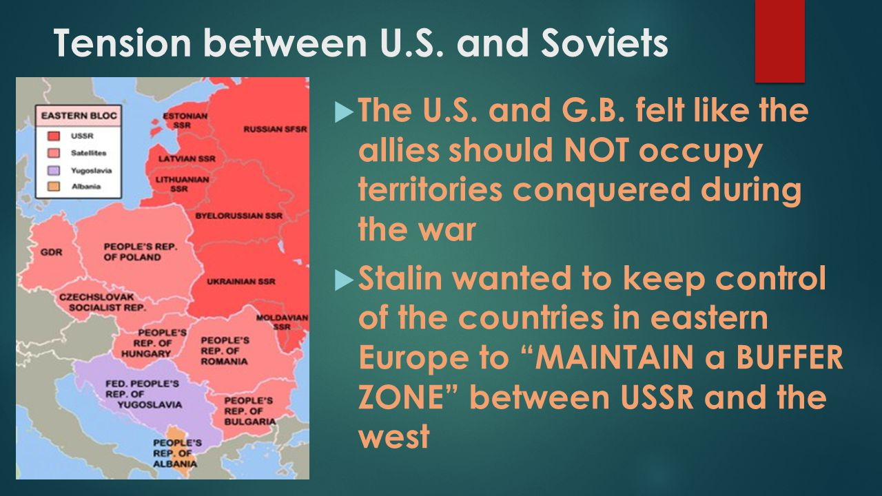 Tension between U.S. and Soviets