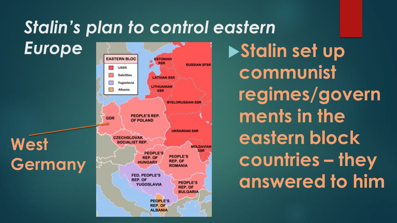 Stalin's plan to control eastern Europe