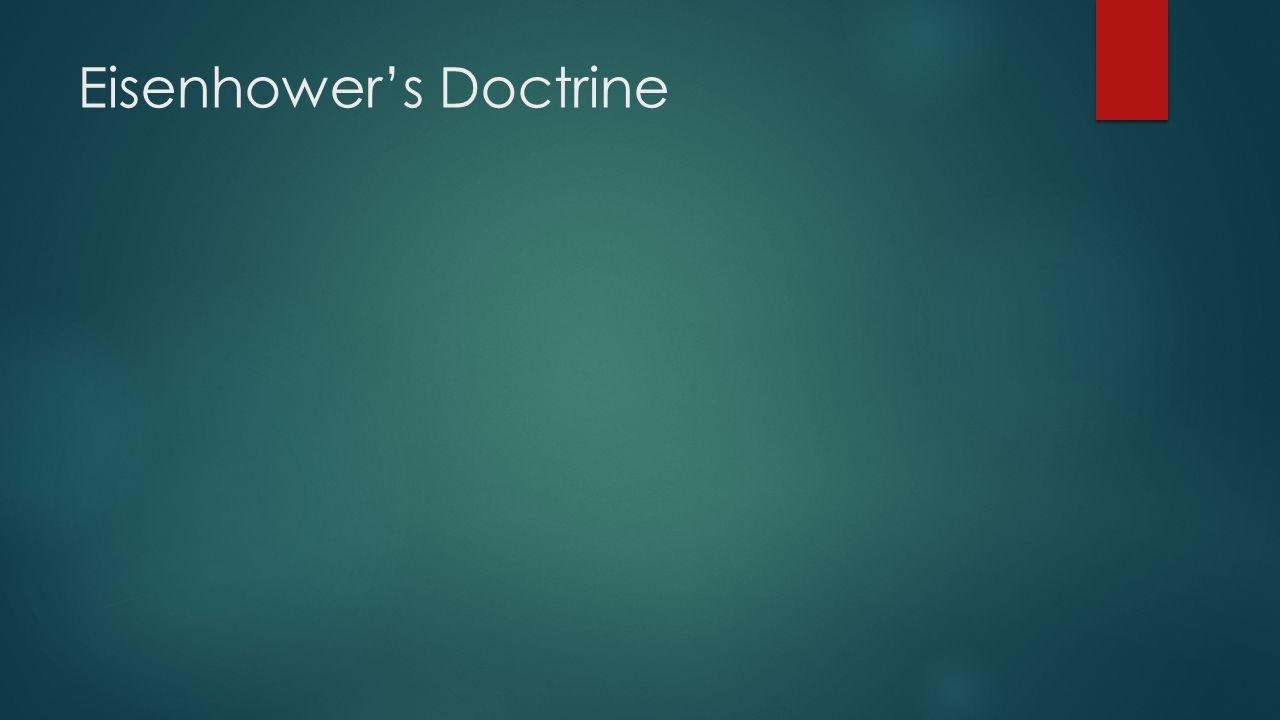 Eisenhower's Doctrine