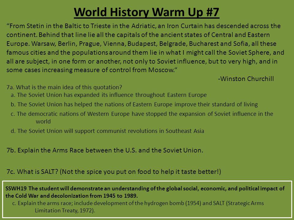 World History Warm Up #7