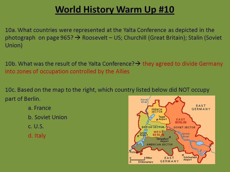 World History Warm Up #10