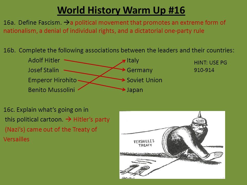 World History Warm Up #16