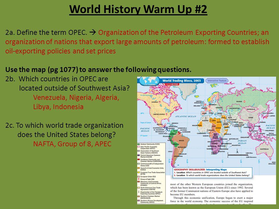 World History Warm Up #2