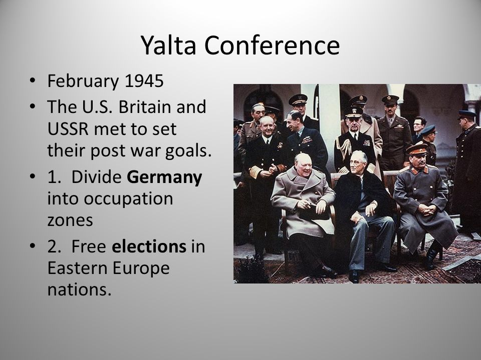 Yalta Conference February 1945