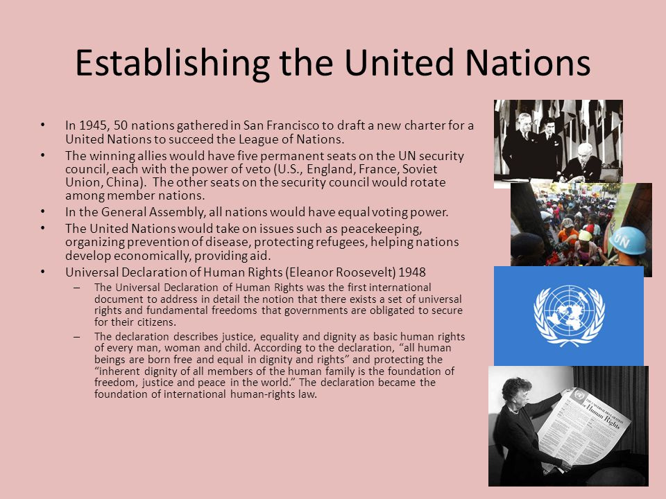 Establishing the United Nations