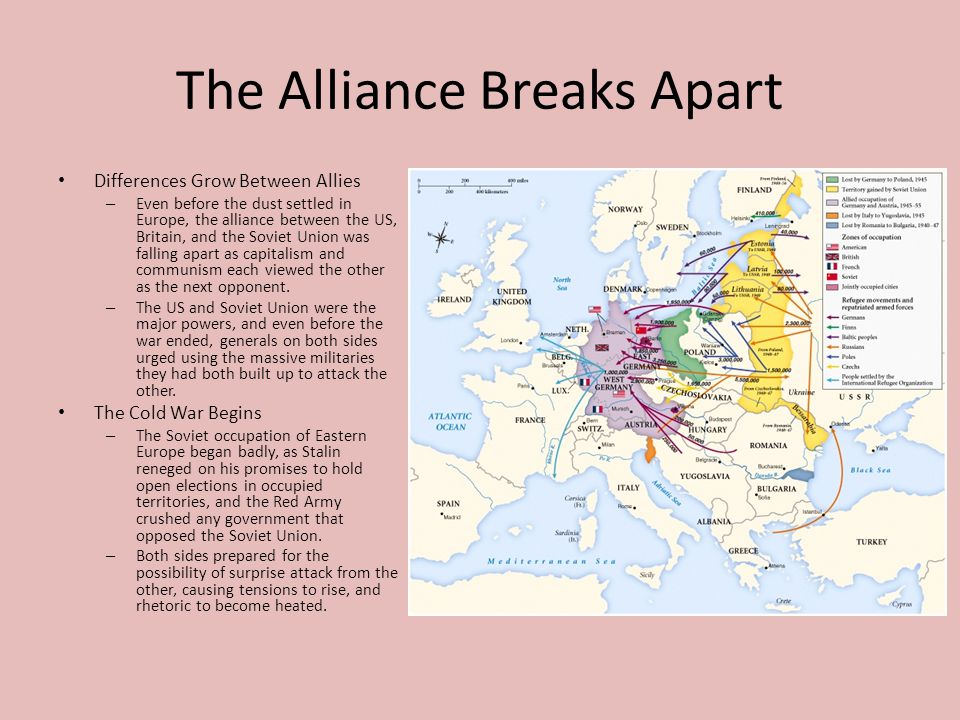 The Alliance Breaks Apart