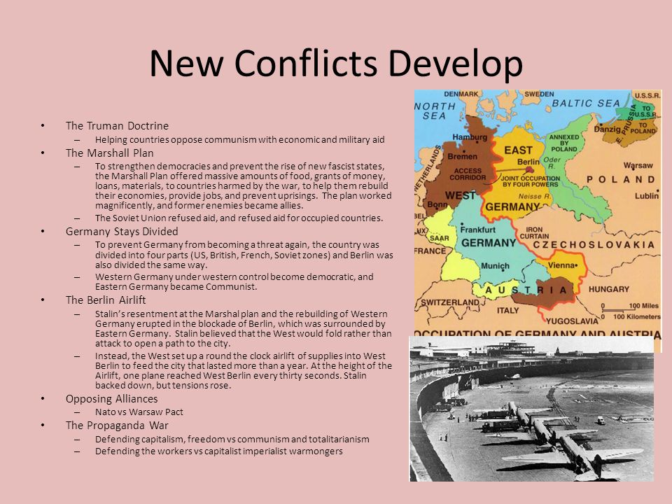 New Conflicts Develop The Truman Doctrine The Marshall Plan