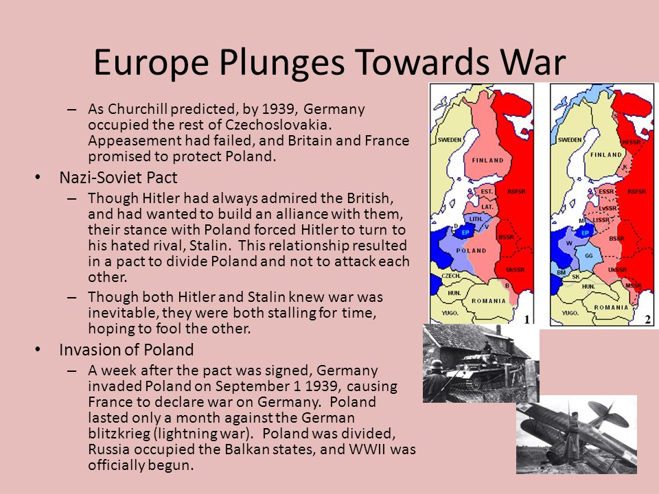 Europe Plunges Towards War