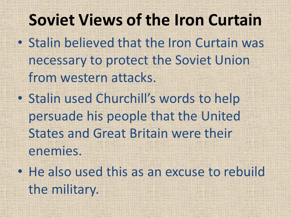 Soviet Views of the Iron Curtain