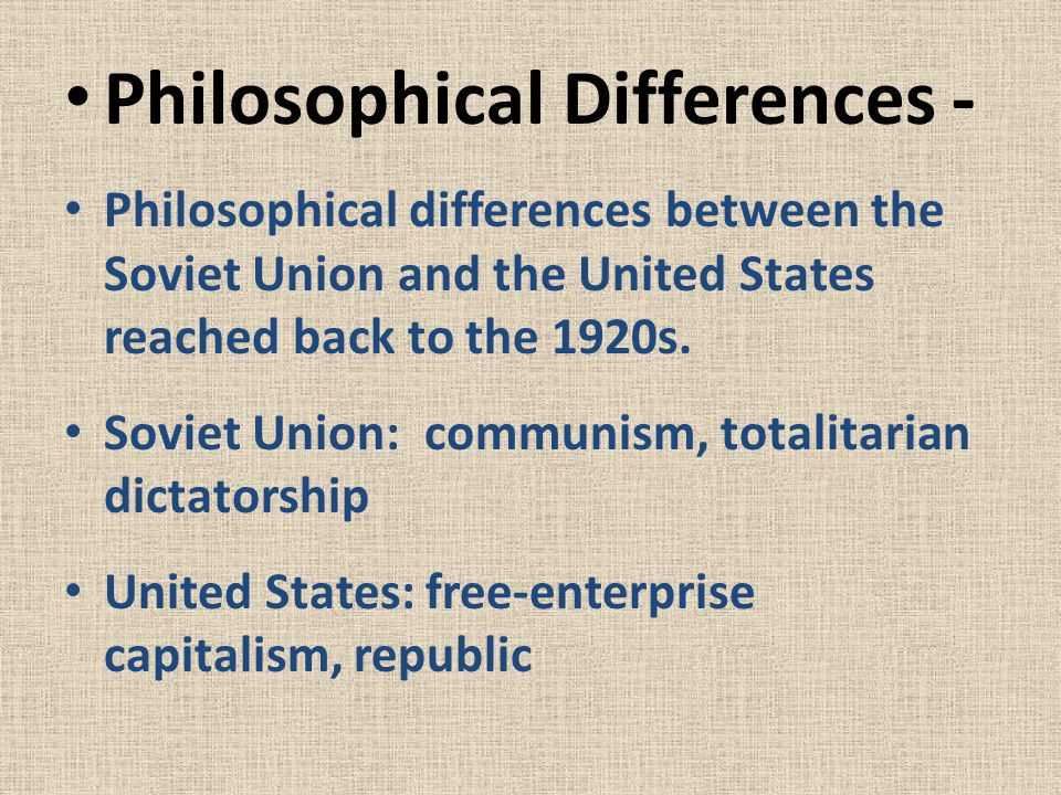 Philosophical Differences -