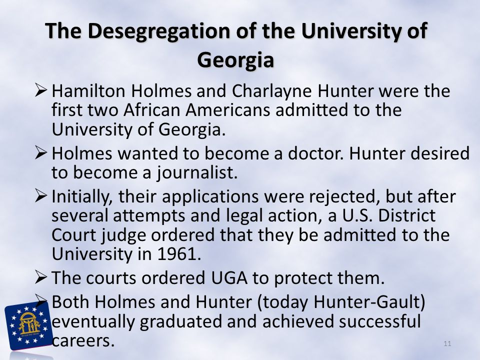 The Desegregation of the University of Georgia