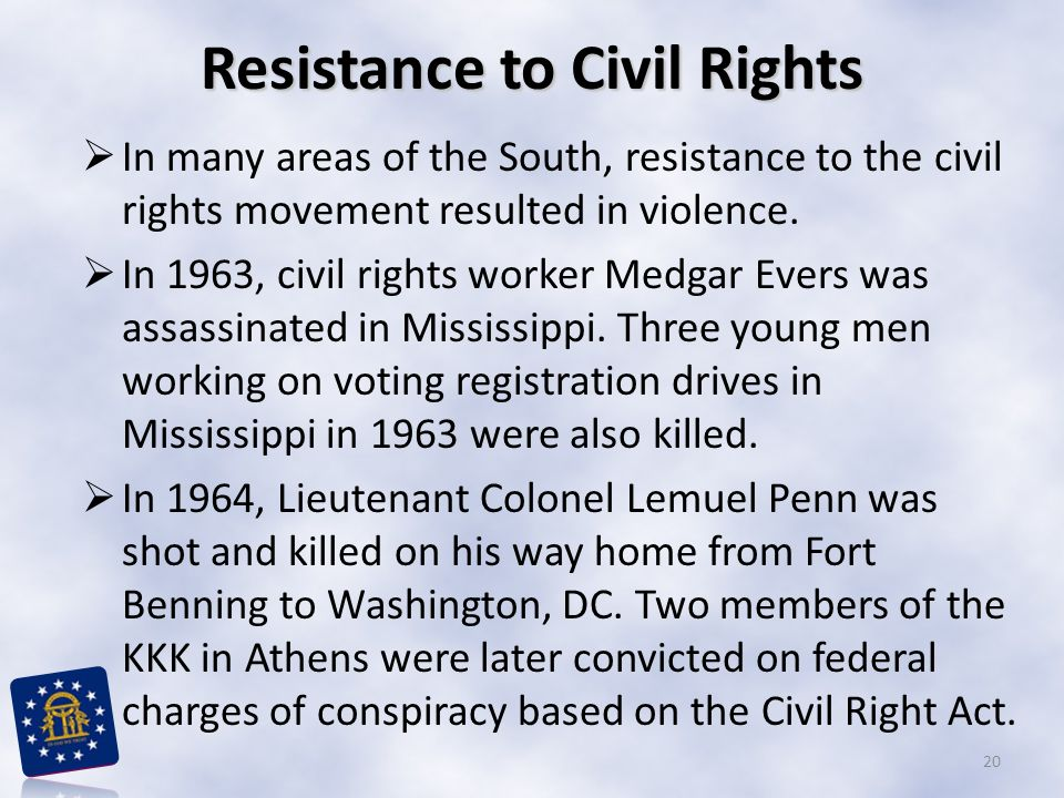 Resistance to Civil Rights