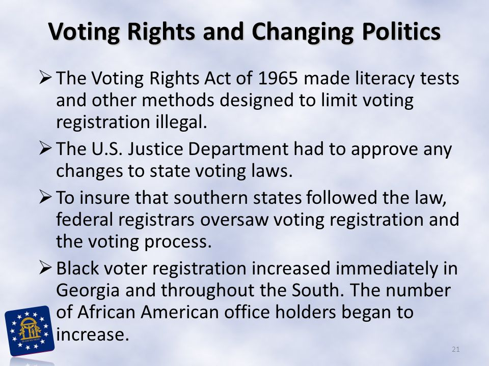 Voting Rights and Changing Politics