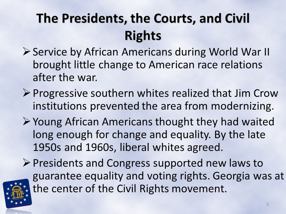 The Presidents, the Courts, and Civil Rights