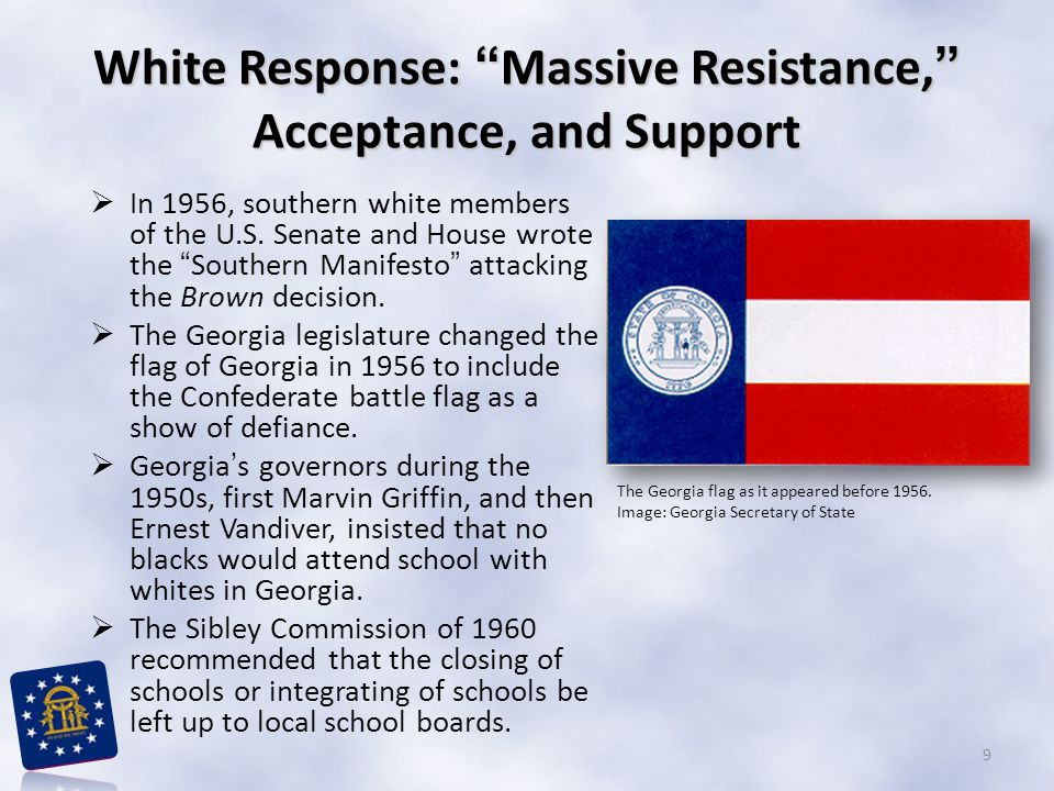 White Response: Massive Resistance, Acceptance, and Support