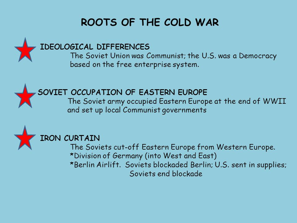 ROOTS OF THE COLD WAR IDEOLOGICAL DIFFERENCES