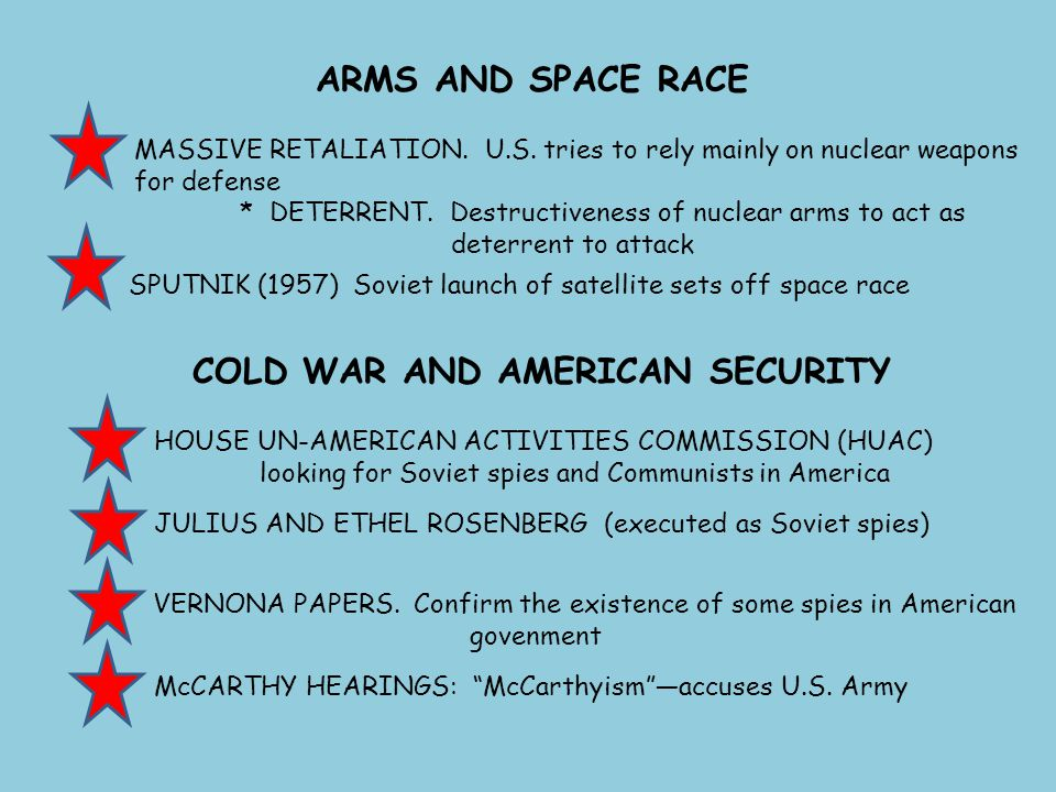 COLD WAR AND AMERICAN SECURITY
