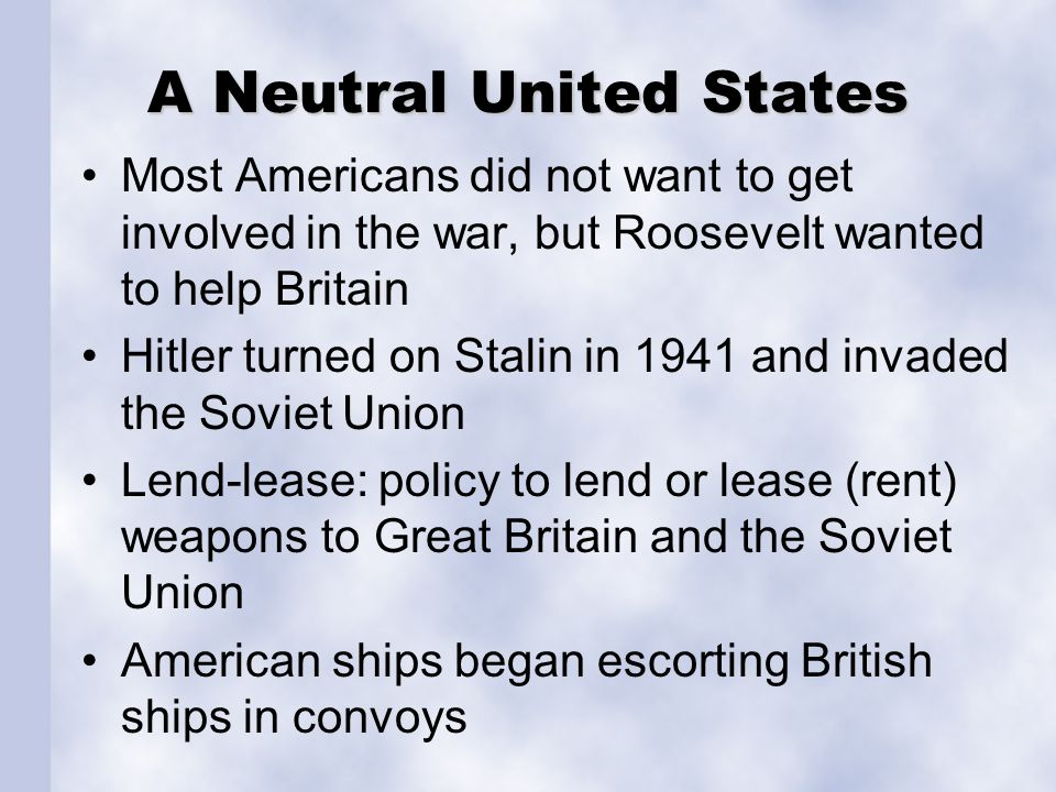 A Neutral United States