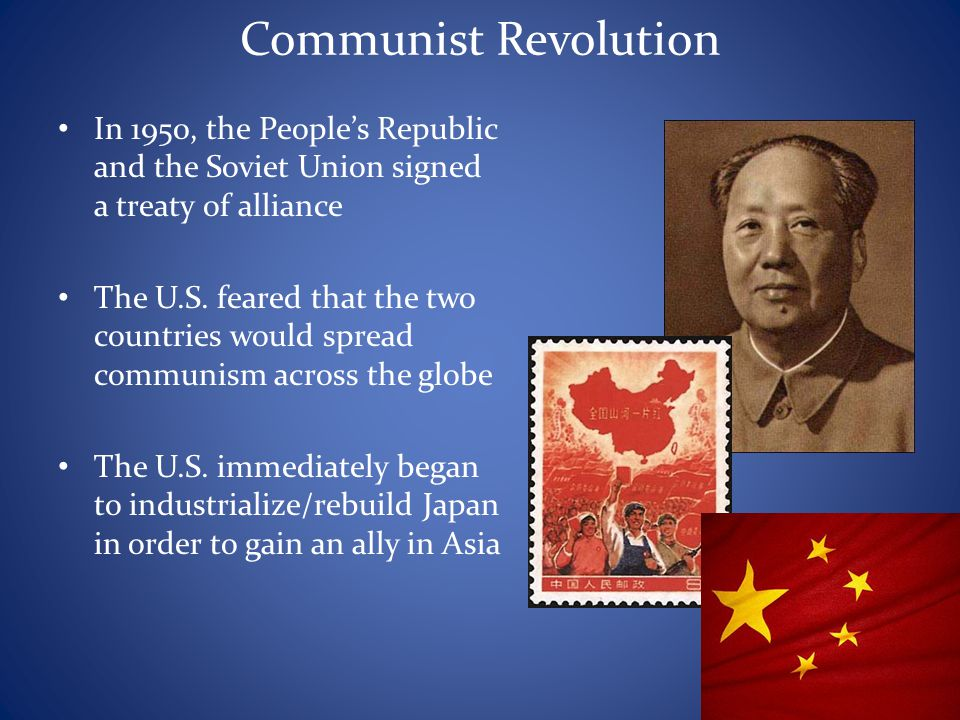Communist Revolution In 1950, the People's Republic and the Soviet Union signed a treaty of alliance.