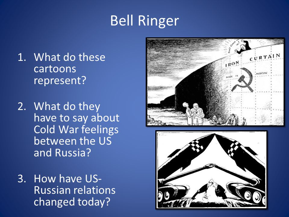 Bell Ringer What do these cartoons represent