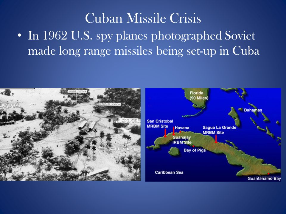 Cuban Missile Crisis In 1962 U.S.