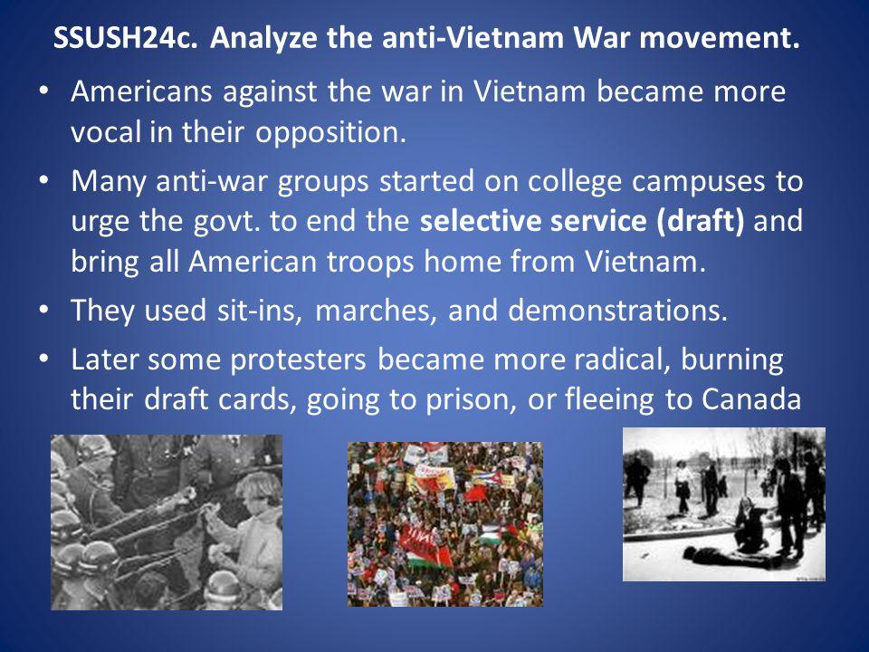 SSUSH24c. Analyze the anti-Vietnam War movement.