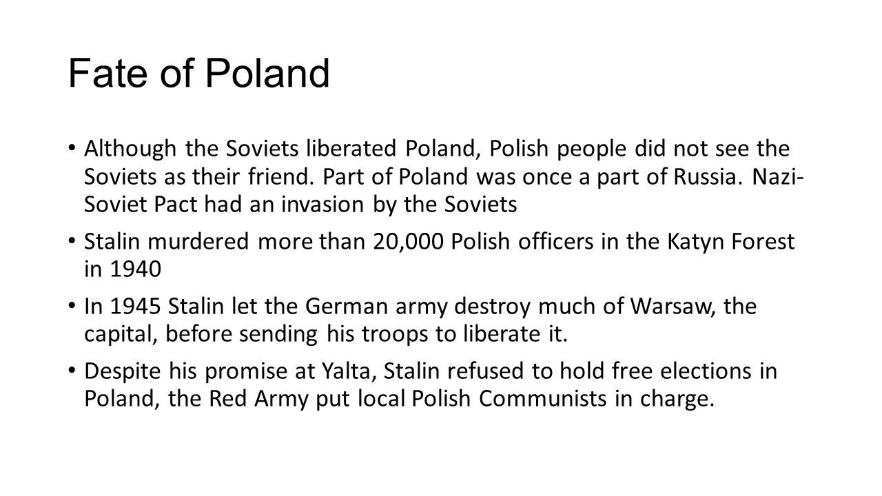 Fate of Poland