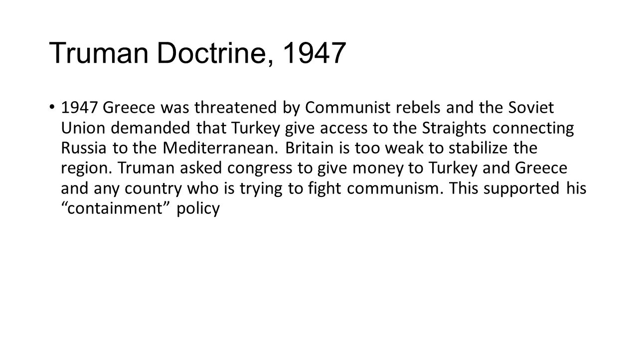 Truman Doctrine, 1947